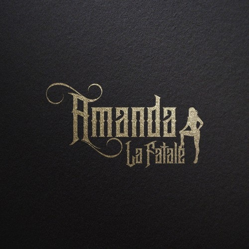 Tattoo logo with the title 'Amanda La Fatale Logo'