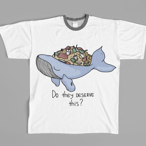 Whale t-shirt with the title 'eco t-shirt'