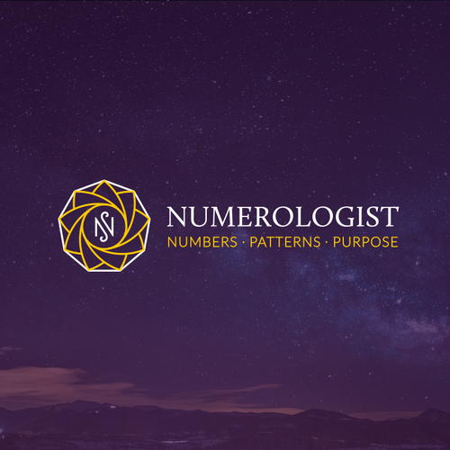 Symmetrical logo with the title 'Numerologist'