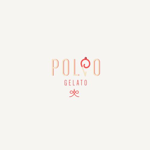 Ice cream logo with the title 'Logodesign for POLPO GELATO'