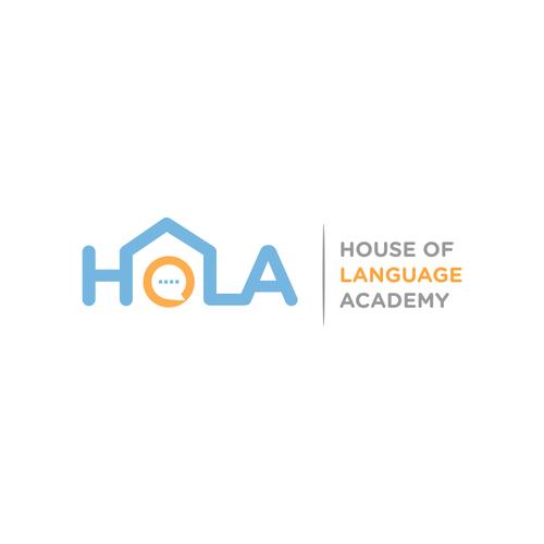 Language logo with the title 'HOLA logo'