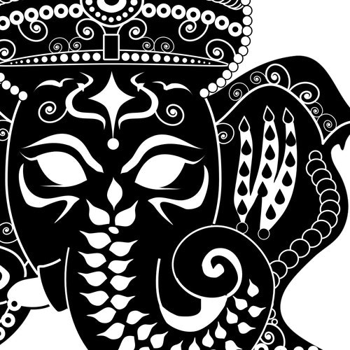 Graphic t-shirt with the title 'Hindu God T-shirt Design'