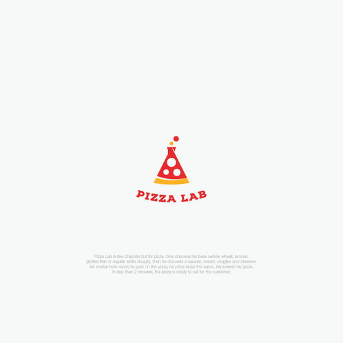 Cheese logo with the title 'Modern sexy logo for Pizza Lab'