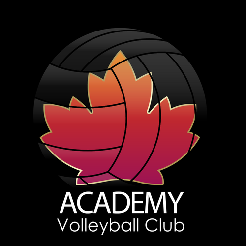 Volleyball logo with the title 'Sport, Pallavolo, Canada'