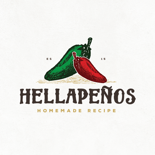 Recipe logo with the title 'HELLAPENOS'