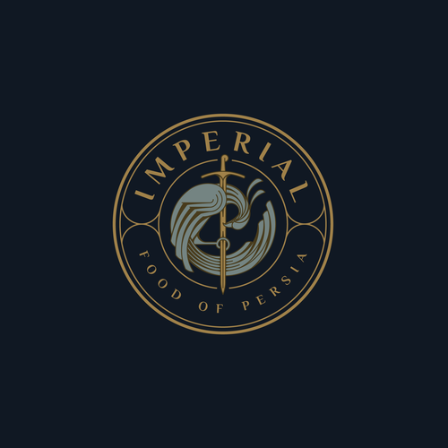 Luxurious logo with the title 'Luxury logo for IMPERIAL Food Of Persia.'