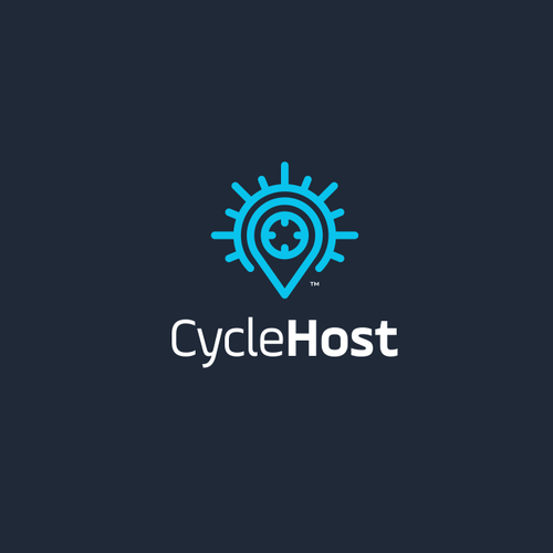 Pin logo with the title 'Cycle Host'