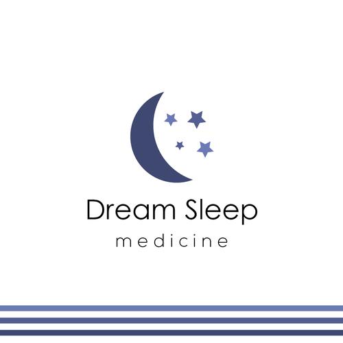 Sleep logo with the title 'Logo design - Dream Sleep Medicine'