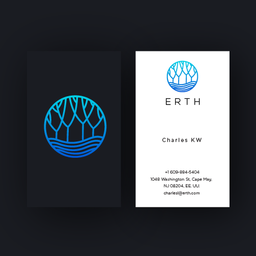 Environmental logo with the title 'Erth'