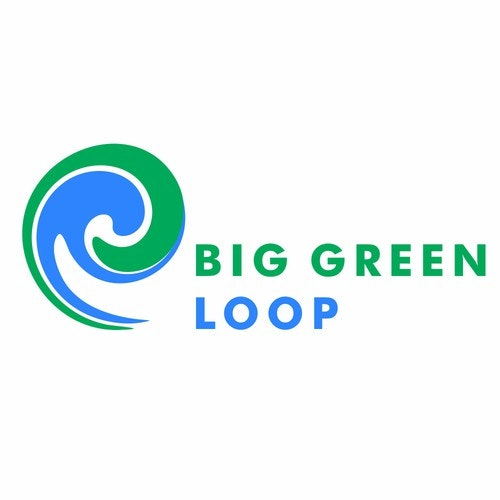 Loop logo with the title 'Big green loop'