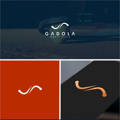 Tennis logo with the title 'GADOLA'