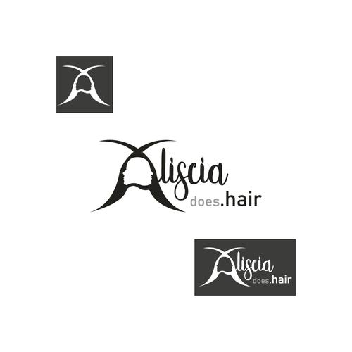 Hair dresser logo with the title 'LOGO FOR HAIRDRESSER ALISCIA'