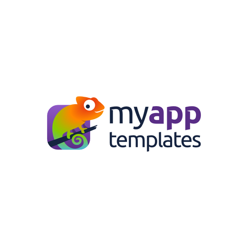 Application logo with the title 'Design a modern logo for MyAppTemplates'