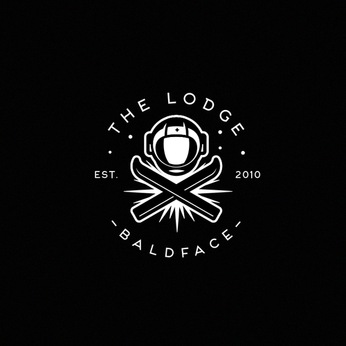 Astronaut logo with the title 'The lodge'