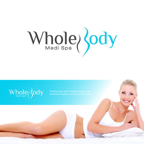 Weight loss logo with the title 'LOGO DESIGN FOR SPA'