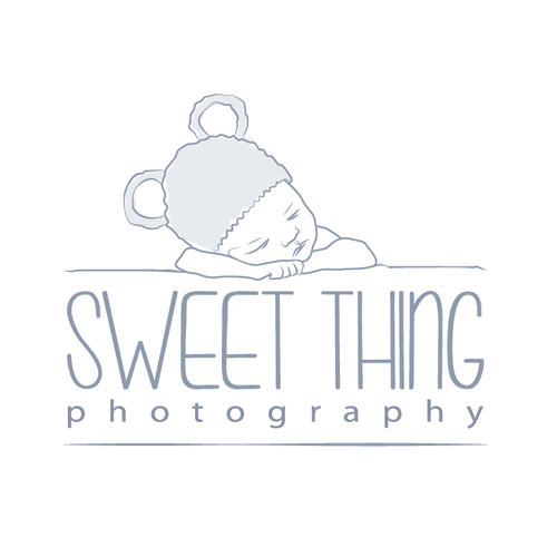 Children logo with the title 'newborn photography logo'
