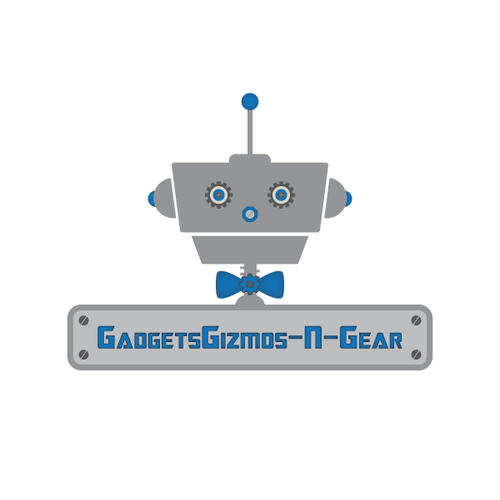 Bow tie logo with the title 'Use your own creativity to make a modern robotic logo for my electronics eBay store!'