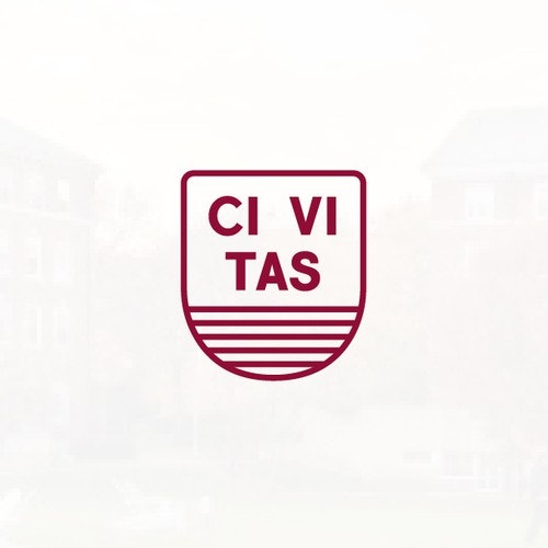 Stripes logo with the title 'Civitas Quad Fund a Harvard Group Logo Design Concept'