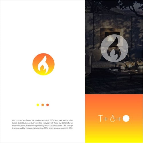 Burning logo with the title 'T Flame'