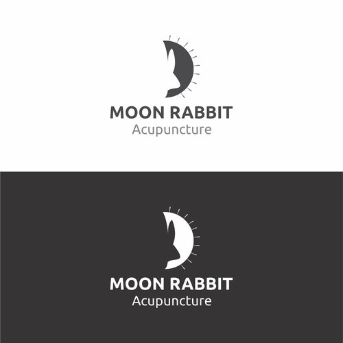 Acupuncture logo with the title 'Moon Rabbit Acupuncture'