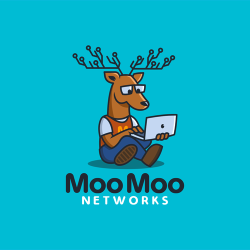 Networking logo with the title 'MooMoo Network'