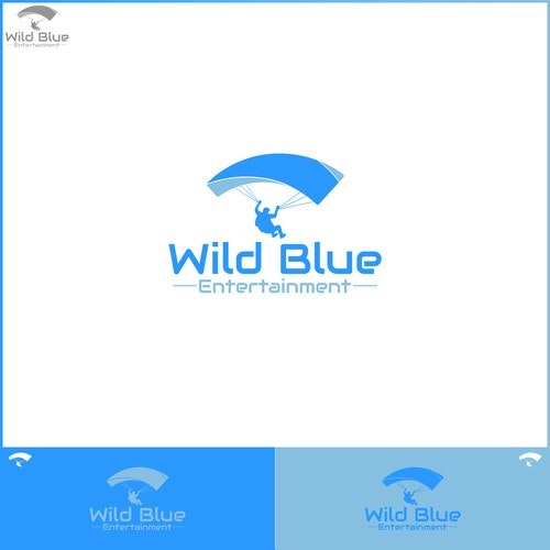 Parachute logo with the title 'Wild Blue Entertainment'