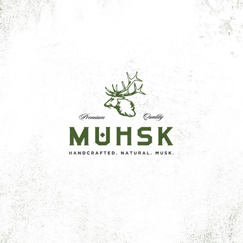 Perfume logo with the title 'Logo Design Proposal for Muhsk'