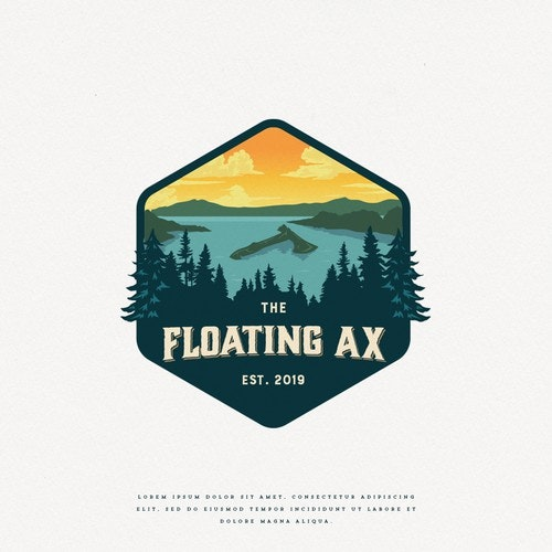 Classic logo with the title 'Floating Ax'