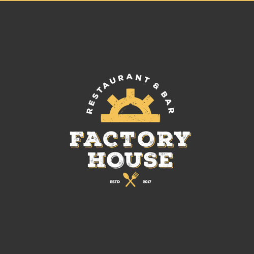 Gear logo with the title 'Factory House'