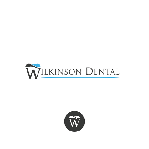 W logo with the title 'Bold logo for dentist office'