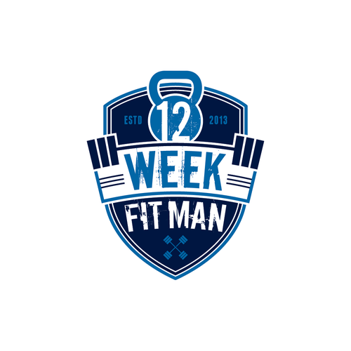 Gym logo with the title 'Create the next logo for 12 Week Fit Man'