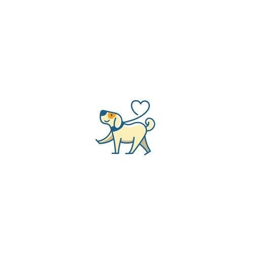 Walk logo with the title 'Dog Logo pet'