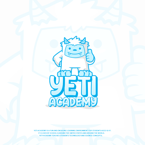 Yeti logo with the title 'YETI ACADEMY'