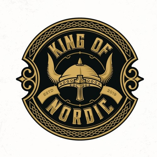 Viking logo with the title 'King of Nordic'