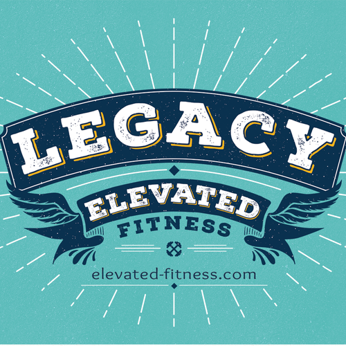 Fitness t-shirt with the title 'A dynamic, retro-styled t-shirt to reward long-standing fitness clientele'