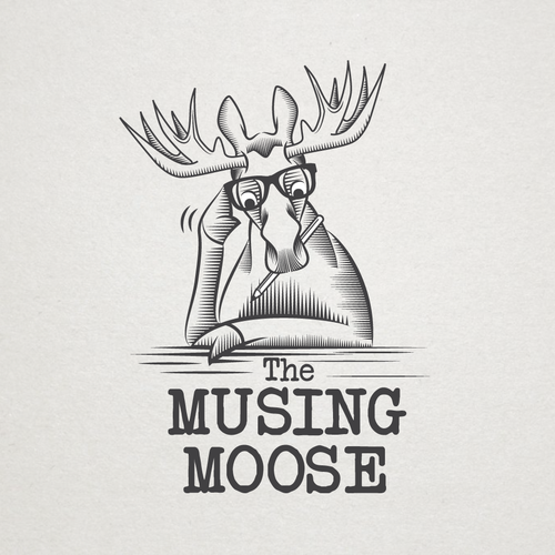 Moose logo with the title 'Musing Moose for a t-shirt'