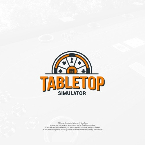 Gambling logo with the title 'Card Games Logo Concept for TableTop Simulator'