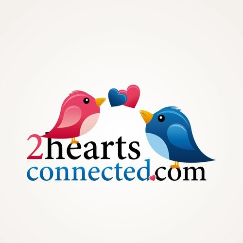 Kiss logo with the title '2heartsconnected.com'