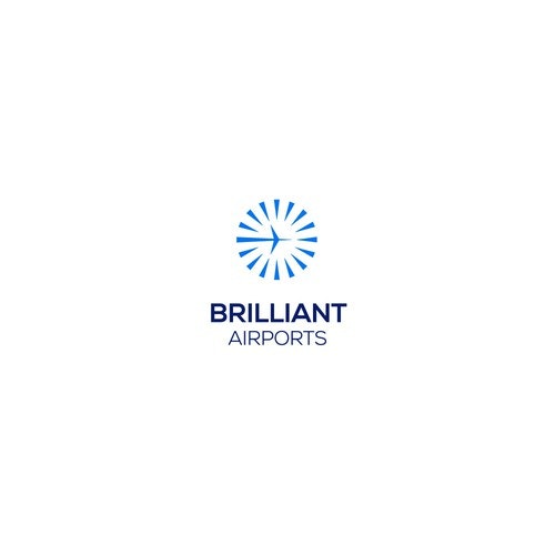 Airport logo with the title 'Concept for Brilliant Airports. a website about airports and flying info'