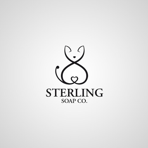 Kitty logo with the title 'Create a logo for a luxury boutique soap brand'