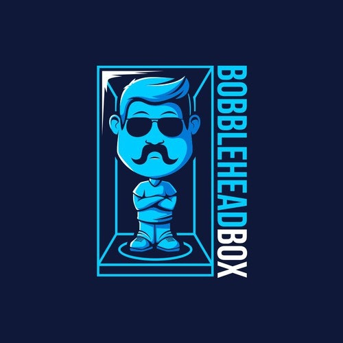 Glasses logo with the title 'The Booblehead'