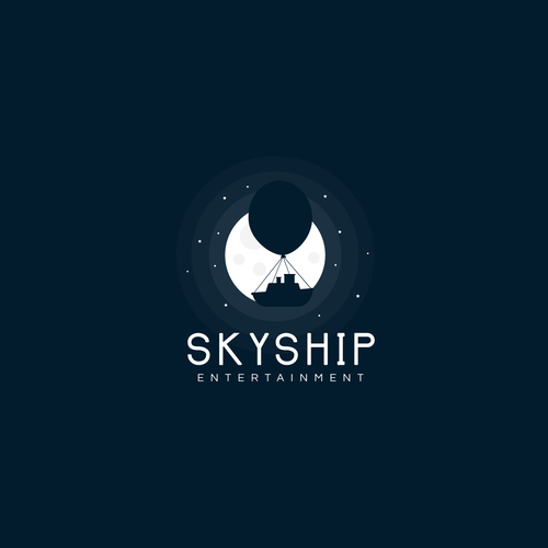 Dark logo with the title 'SkyShip logo '