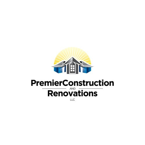 Construction logo with the title 'house'