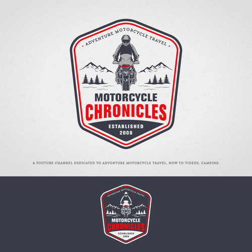 Motorcycle logo with the title 'Motorcycle Adventure'