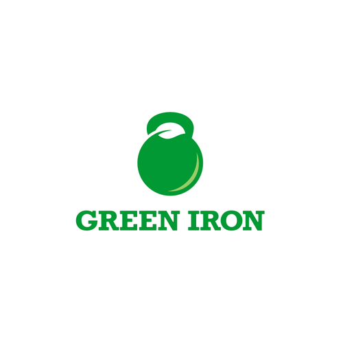 Kettlebell logo with the title 'Green Iron'