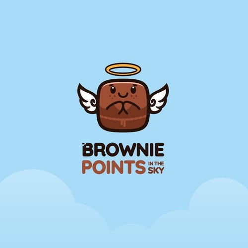 Angel logo with the title 'Brownie Points In The Sky'