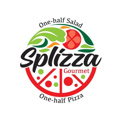 Salad logo with the title 'SPLIZZA Logo'