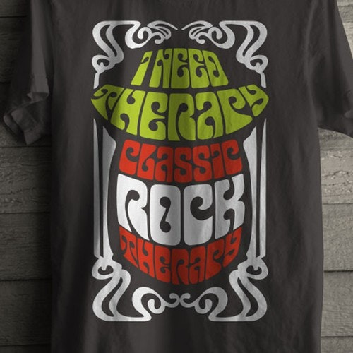 Rock t-shirt with the title 'Tshirt Graphic Design'