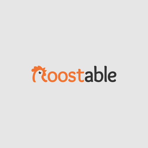 Rooster logo with the title 'Modern and exciting logo wanted for our new site 'Roostable''