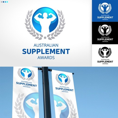 Award logo with the title 'Australian Supplement Awards'